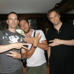 Yshai Afterman, N. Scott Robinson and myself, in Grafton Vermont. I got my gang signage wrong...